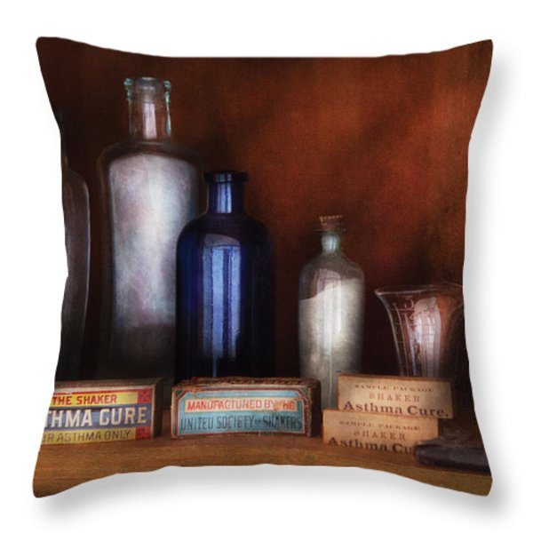 Doctor - Asthma Cures Throw Pillow by Mike Savad