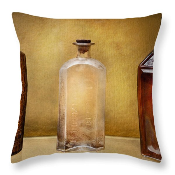 Doctor - Bitters  Throw Pillow by Mike Savad