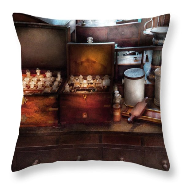 Doctor - Doctor In A Box Throw Pillow by Mike Savad
