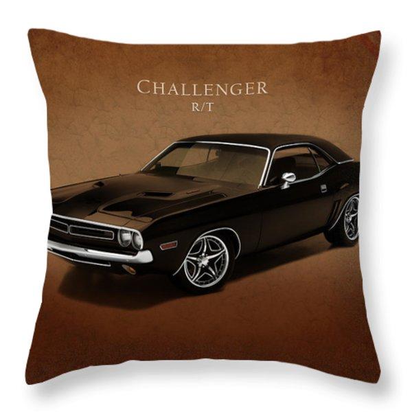 Dodge Challenger Rt Throw Pillow by Mark Rogan