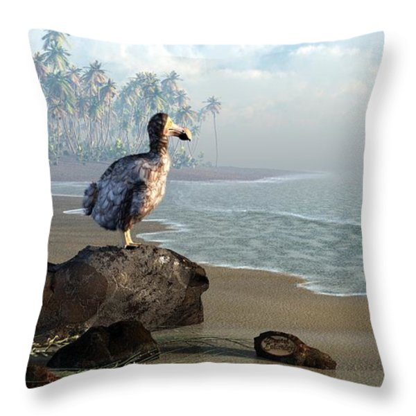 Dodo Afternoon Throw Pillow by Daniel Eskridge