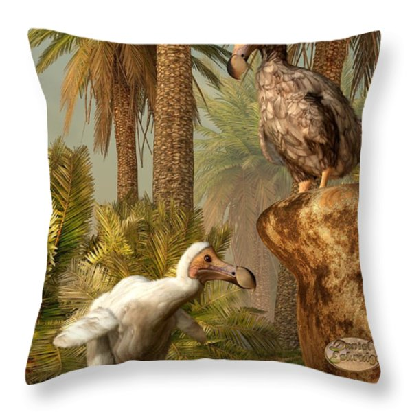 Dodo Hide N Seek Throw Pillow by Daniel Eskridge