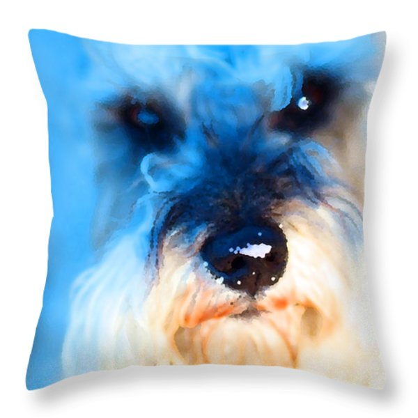 Dog 2 . Photo Artwork Throw Pillow by Wingsdomain Art and Photography