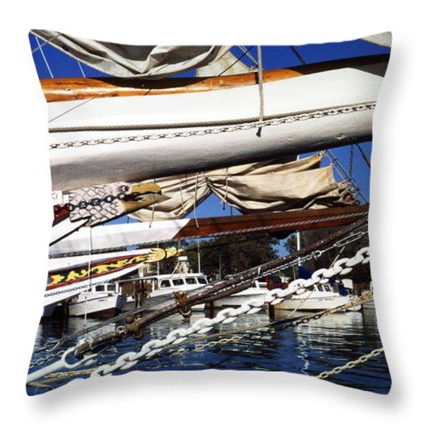 Dogwood Harbor Throw Pillow by Thomas R Fletcher