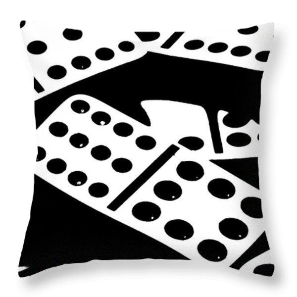 Dominoes Iv Throw Pillow by Tom Mc Nemar