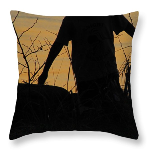 Dont Tell Me I Cant Fly Throw Pillow by Sandy Rubini