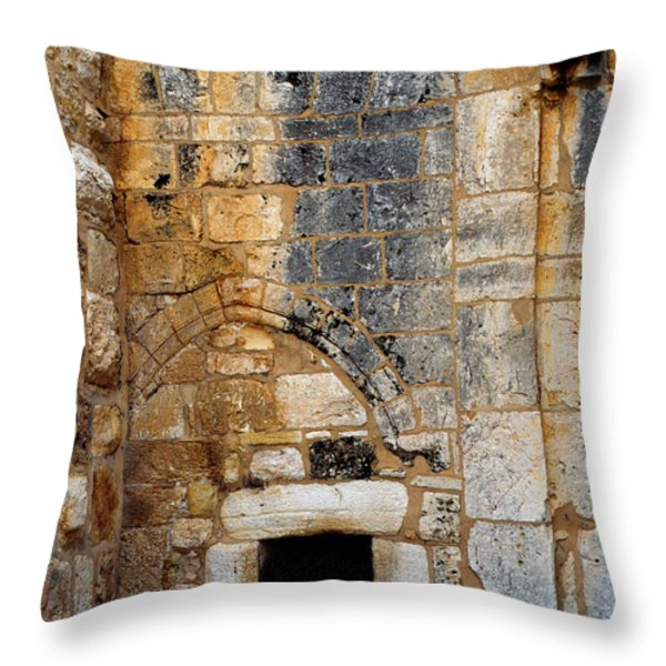 Doorway Church Of The Nativity Throw Pillow by Thomas R Fletcher