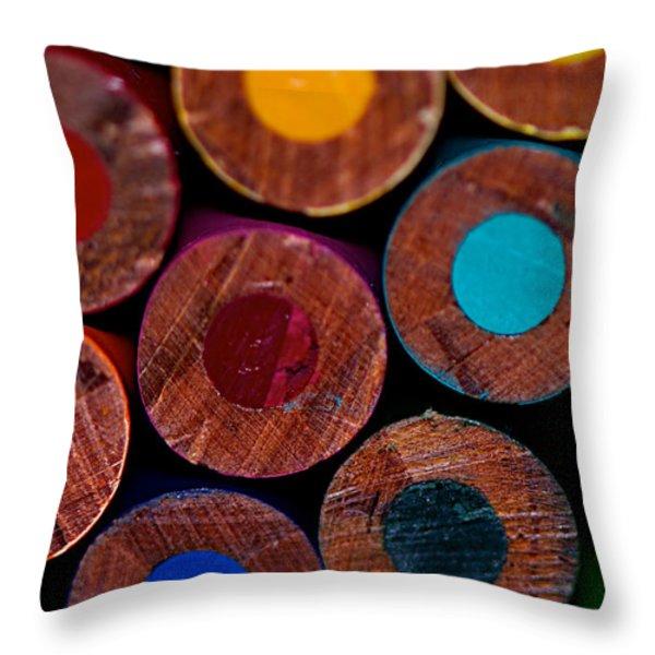 Dotty Throw Pillow by Lisa Knechtel