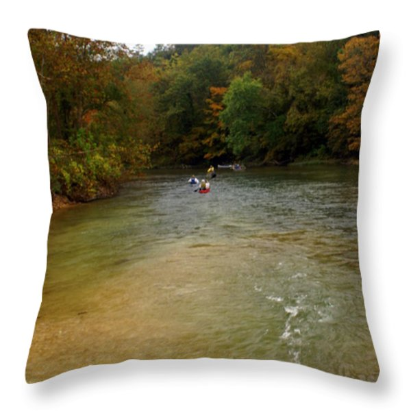 Downstream Throw Pillow by Marty Koch