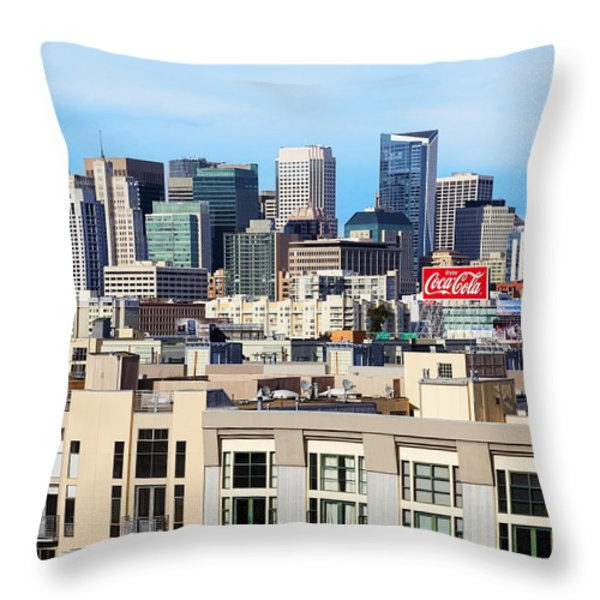 Downtown San Francisco Throw Pillow by Kelley King