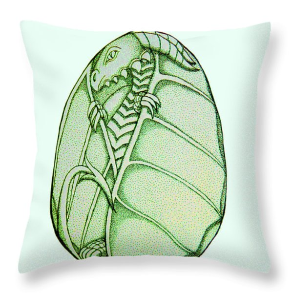 Dragon Egg Throw Pillow by Nick Gustafson