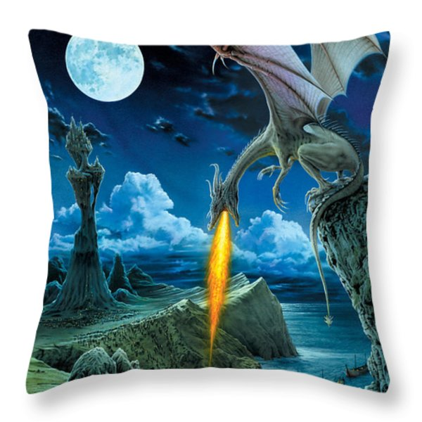 Dragon Spit Throw Pillow by The Dragon Chronicles - Robin Ko