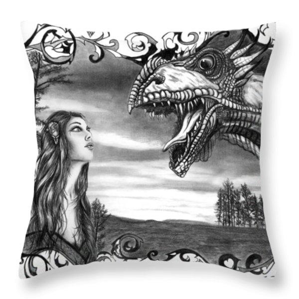 Dragon Whisperer  Throw Pillow by Peter Piatt