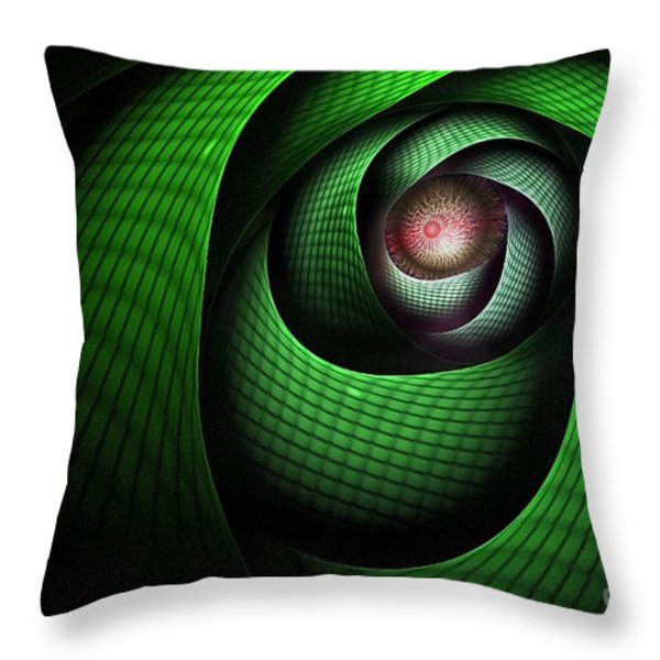 Dragons Eye Throw Pillow by John Edwards
