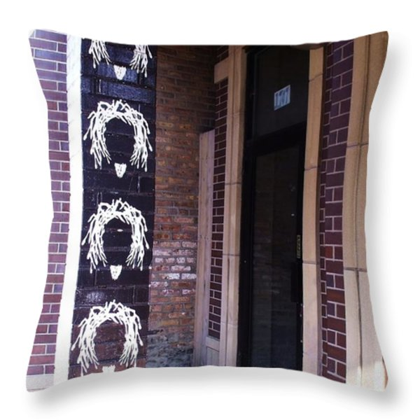 Dreads On A Pole Throw Pillow by Anna Villarreal Garbis