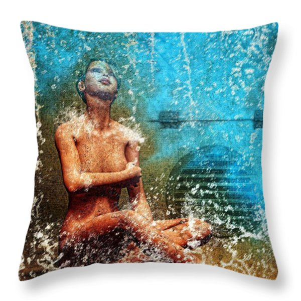 Dream of Water Throw Pillow by Bob Orsillo