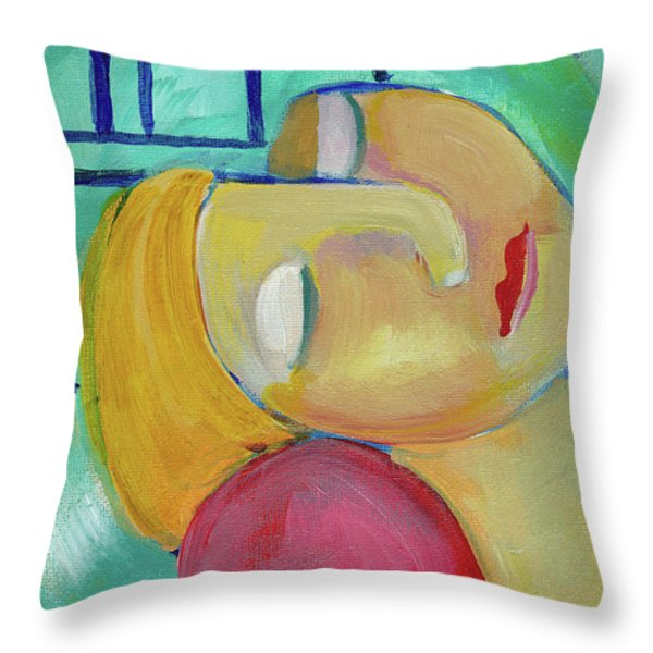 Dreaming Of Picasso Throw Pillow by John Keaton