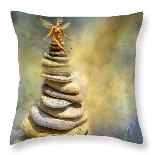 Dreaming Stones Throw Pillow by Carol Cavalaris