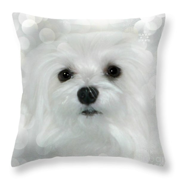 Dreams In White Throw Pillow by Morag Bates