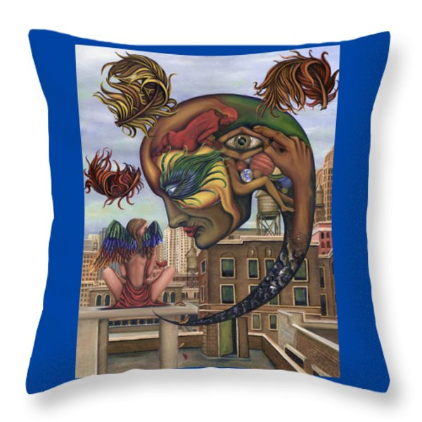 Dreams Lost The Molting Throw Pillow by Karen Musick