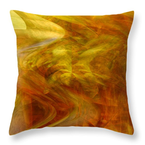 Dreamstate Throw Pillow by Linda Sannuti