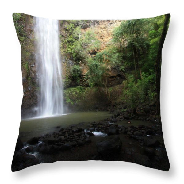 Dreamy Waterfall Throw Pillow by Mary Haber