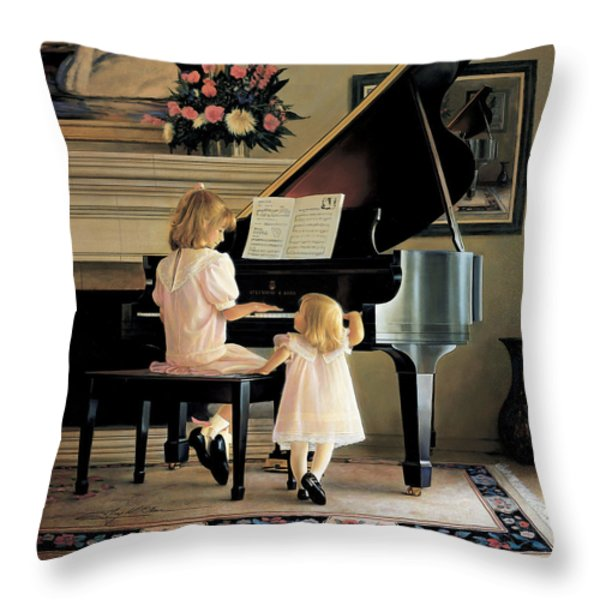 Dress Rehearsal Throw Pillow by Greg Olsen