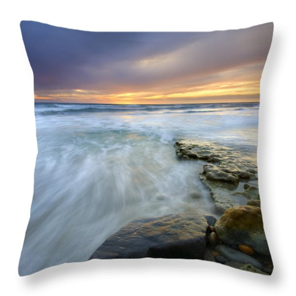 Driven before the storm Throw Pillow by Mike  Dawson