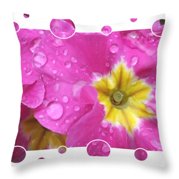 Drops Upon Raindrops 3 Throw Pillow by Carol Groenen