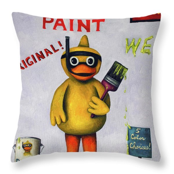 Duck Boy Throw Pillow by Leah Saulnier The Painting Maniac
