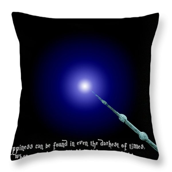 Dumbledore Happiness Quote Throw Pillow by Jera Sky