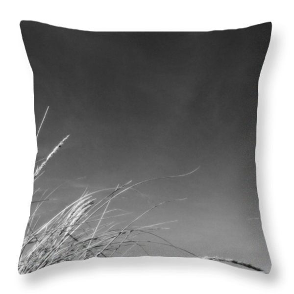 Dune Grass With Sky Throw Pillow by Michelle Calkins