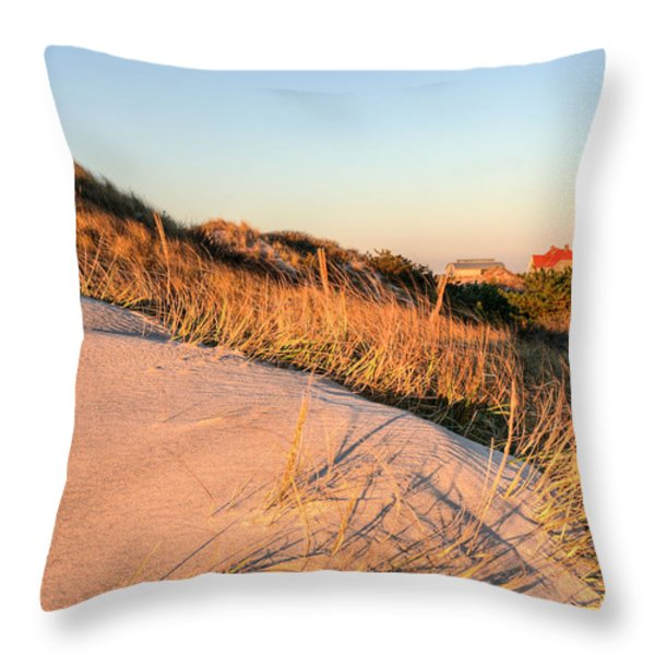 Dunes of Fire Island Throw Pillow by JC Findley