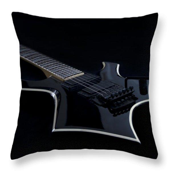 E-Guitar Throw Pillow by Melanie Viola