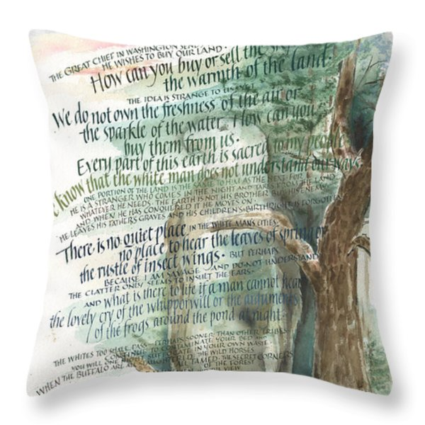 Eagle Gone Throw Pillow by Judy Dodds