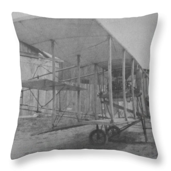 Early Aviation Throw Pillow by Gwyn Newcombe