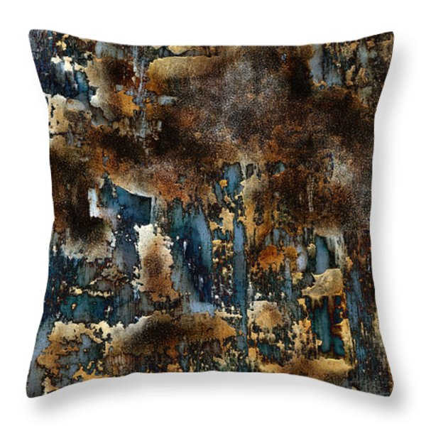 Throw Pillow featuring the painting Earth Tone Abstract by Frank Tschakert