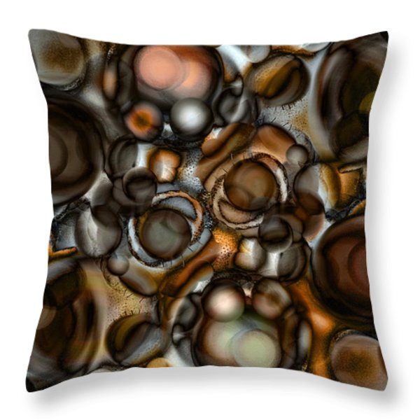 Throw Pillow featuring the painting Earth Tone by Frank Tschakert