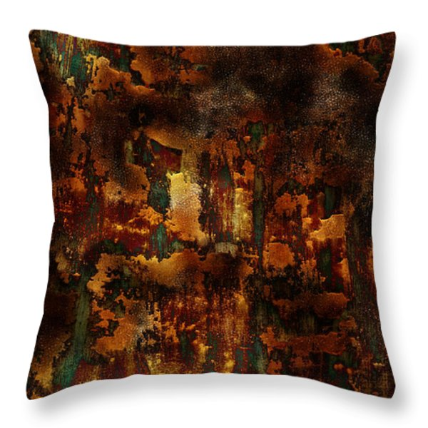 Throw Pillow featuring the painting Earth Tones by Frank Tschakert