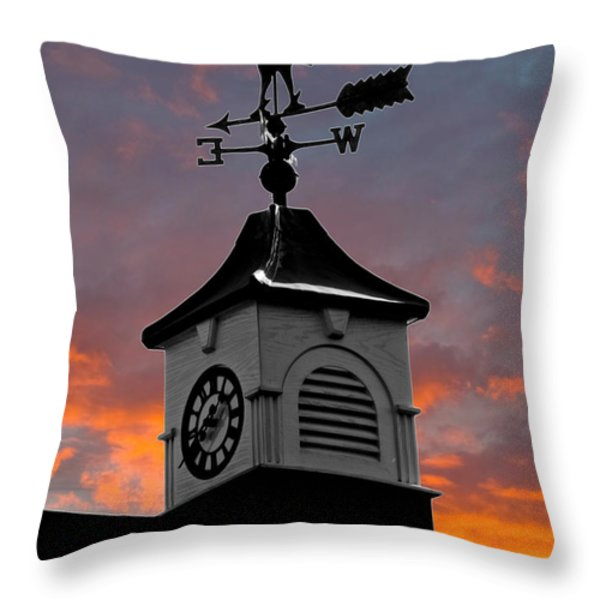 East By South Throw Pillow by Brian Roscorla