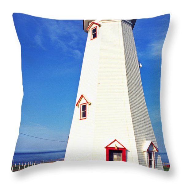 East Point Lightstation PEI Throw Pillow by Thomas R Fletcher