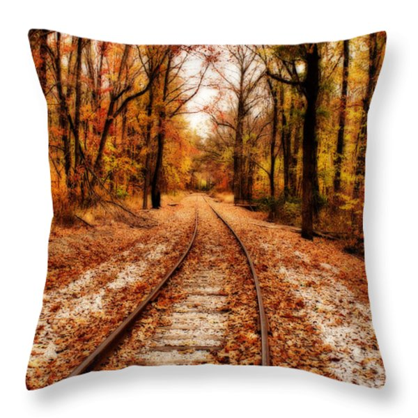 Eastbound Throw Pillow by Sandy Keeton