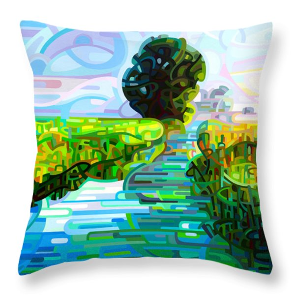 Ebb And Flow Throw Pillow by Mandy Budan
