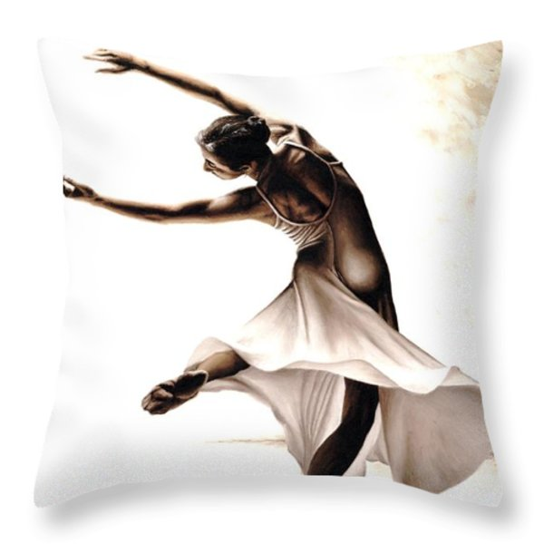 Eclectic Dancer Throw Pillow by Richard Young