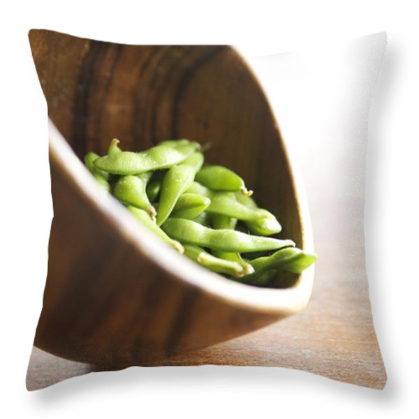 Edamame Throw Pillow by Kicka Witte - Printscapes