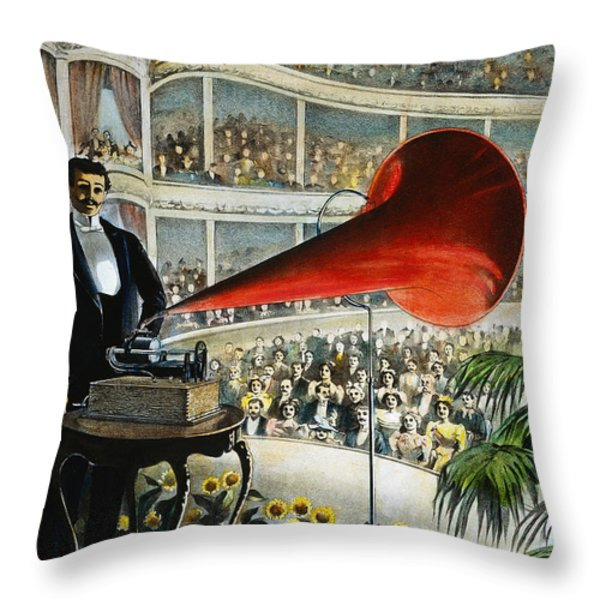 Edison Phonograph Ad, 1899 Throw Pillow by Granger