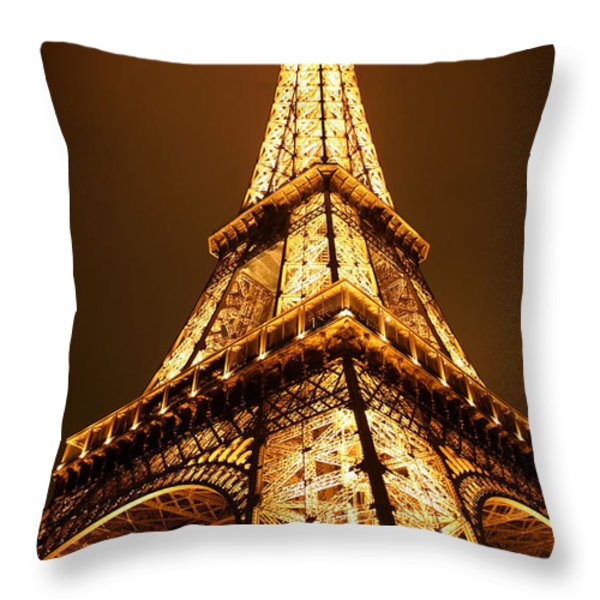 Eiffel Throw Pillow by Skip Hunt