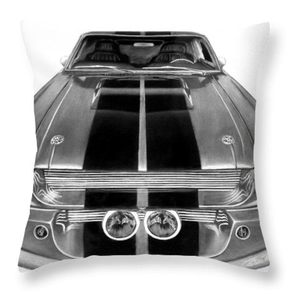Eleanor Ford Mustang Throw Pillow by Peter Piatt