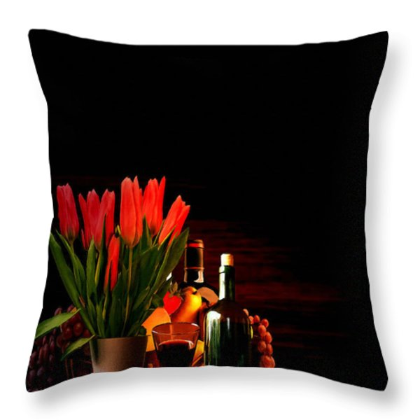 Elegance Throw Pillow by Lourry Legarde