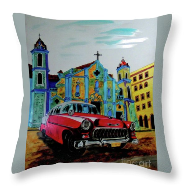 Eleggua Throw Pillow by Betta Artusi